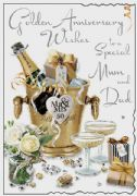 Mum & Dad Golden Wedding Anniversary Card